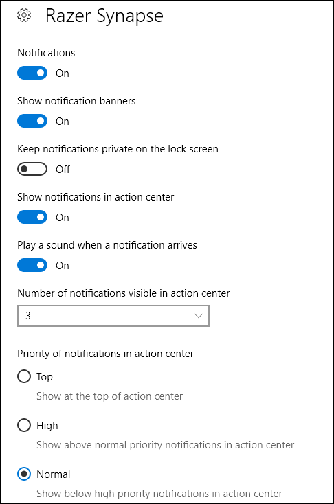 notification details for an app