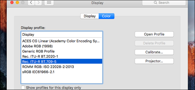 RELATED How To Find And Install A Color Profile For More Accurate Monitor On Windows MacOS You Can Click All Of The Available Profiles