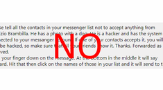 Stop Forwarding Annoying Messages on Facebook