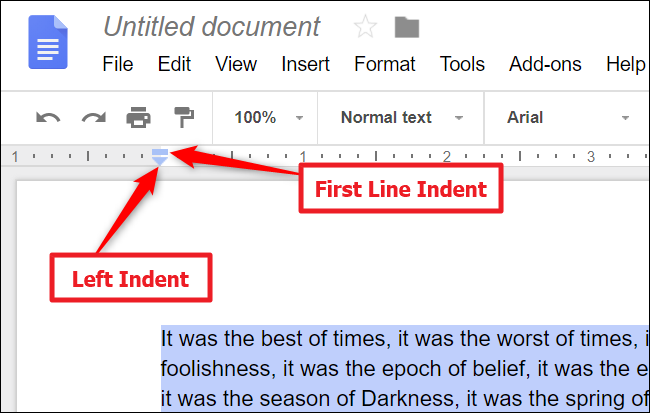 how to create a division line in google docs
