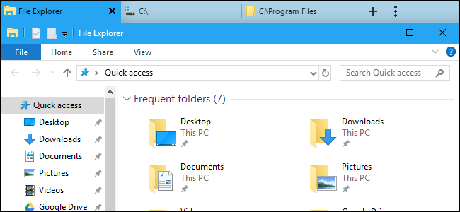 How to Get File Explorer Tabs Now in Windows 10