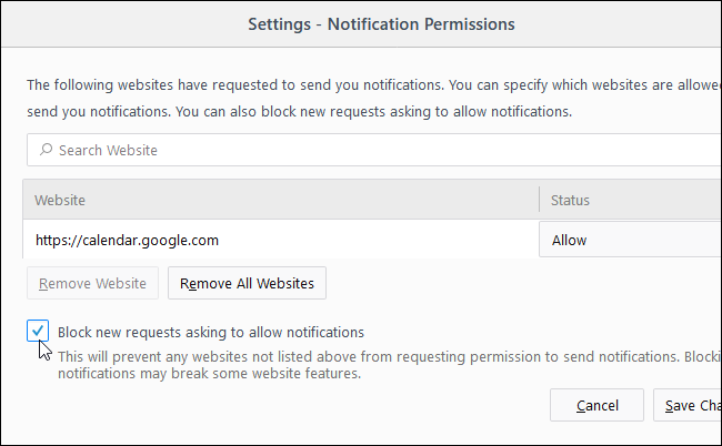 How to Stop Websites From Asking to Show Notifications