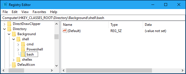 How to Quickly Launch a Bash Shell From Windows 10's File