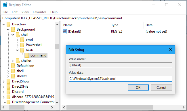 how to open a file on bash on windows