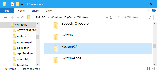 What is the System32 Directory? (and Why You Shouldn't