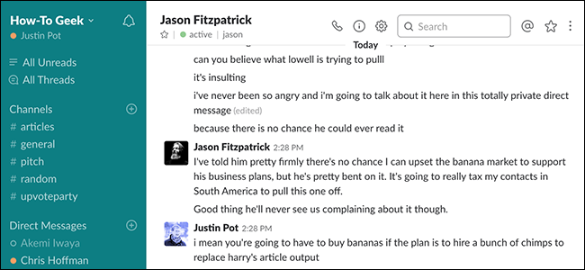 Find Out If Your Boss Can Download Your Slack DMs