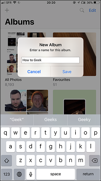 how to add photos to iphone album