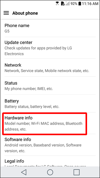 How to find out what model of android phone you have if you dont see the model number on the main about phone screen look for a hardware info entry and tap that ccuart Images