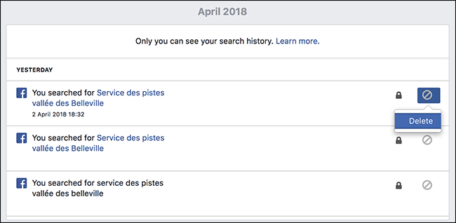 How to clear your facebook search history and then click the delete button ccuart Gallery