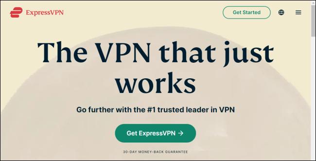 Express VPN's website