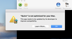 """What That """"Not Optimized For Your Mac"""" Message Means"""