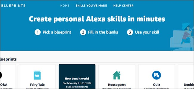 How to use alexa blueprints to create your own alexa skills malvernweather Choice Image