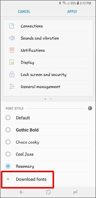How to Change Fonts on Samsung Phones