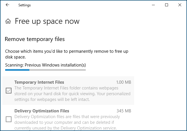 "Use Windows 10's New ""Free Up Space"" Tool to Clean Up Your Hard Drive Scroll through the list and check the different types of data you want to  remove. Windows shows exactly how much space you'll free up by removing  each type ..."