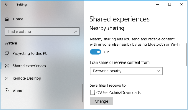 How to Use Nearby Sharing on Windows 10