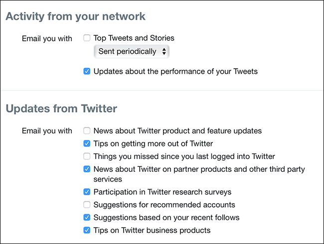 How to Stop All of Twitter's Annoying Emails