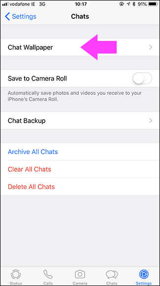 How To Change The Chat Background In Whatsapp