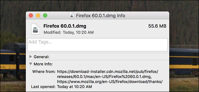 Quickly Check Where Any Downloaded File Came From in macOS
