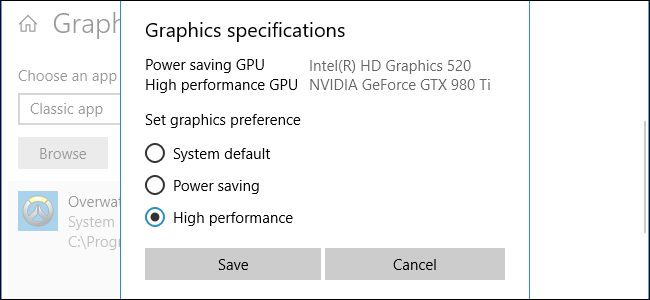 How to Choose Which GPU a Game Uses on Windows 10