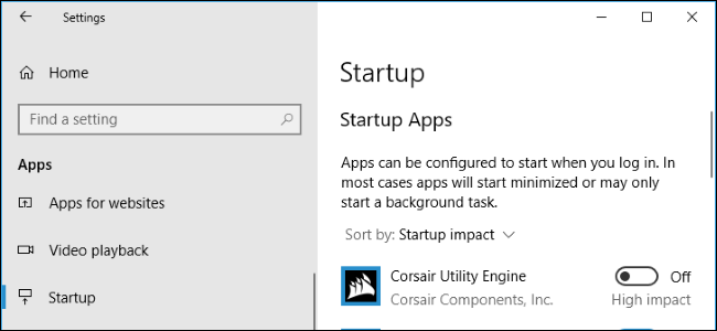 How to Manage Startup Programs in Windows 10's Settings App