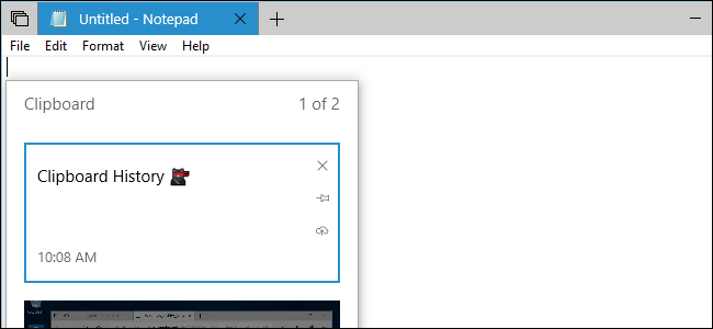 Using Windows 10's New Clipboard: History and Cloud Sync