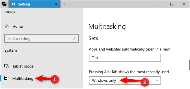 how to change alt tab settings windows 10