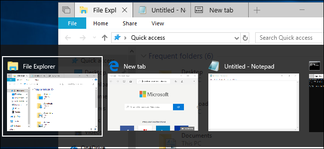 Windows 10 is Changing How Alt+Tab Works, Here's What You