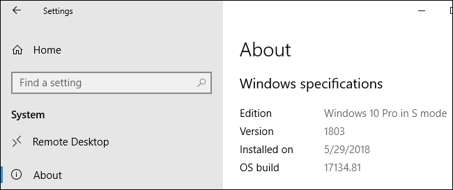 What is Windows 10 in S Mode?