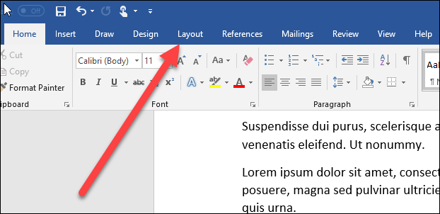 how to create word document landscape
