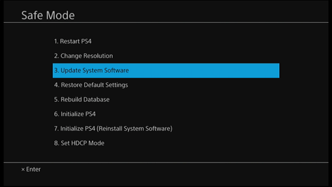 how to put a update on usb ps4