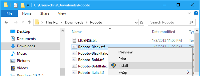 install fonts windows 10 powerpoint