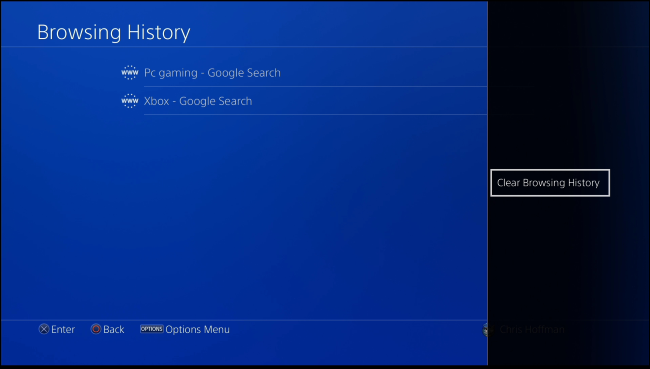 how to clear browser cache on ps4