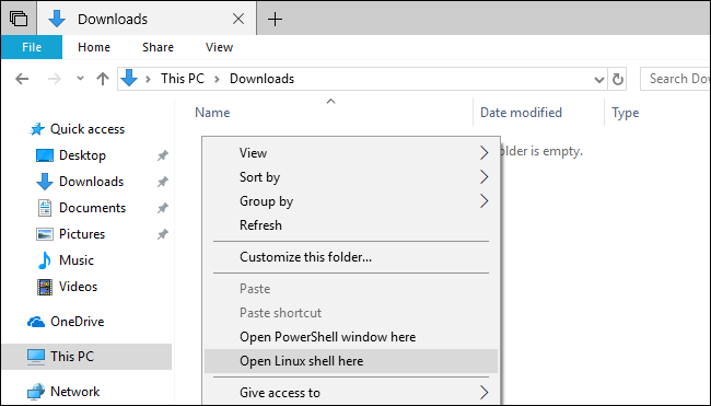 Tie-in to Win 10 x64's WSL Windows Subsystem for Linux