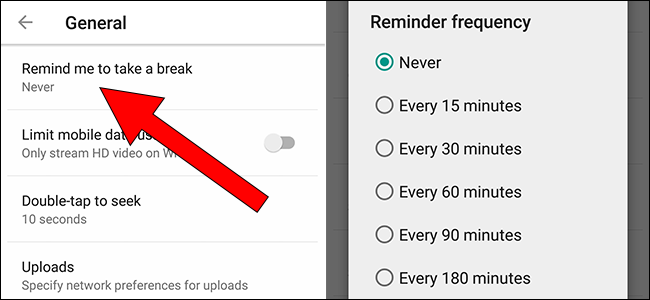YouTube Can Now Remind You To Take a Break