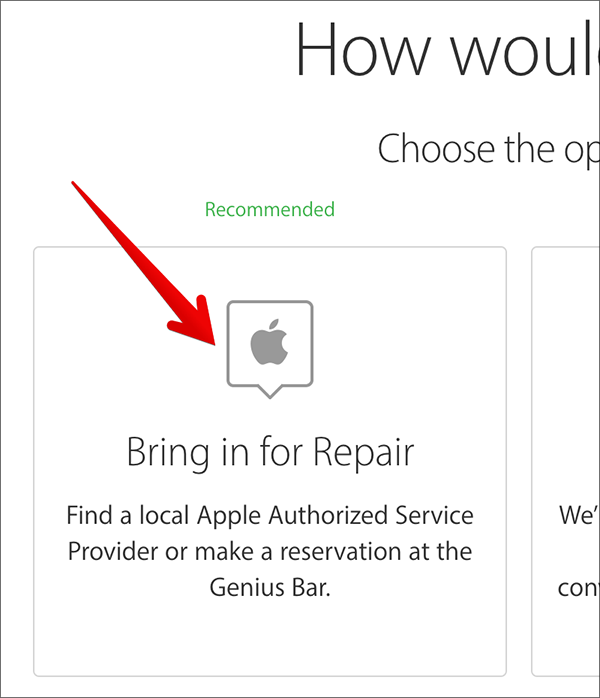make an appointment at genius bar