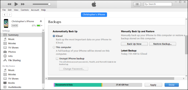 How to Back Up Your iPhone With iTunes and When You Should