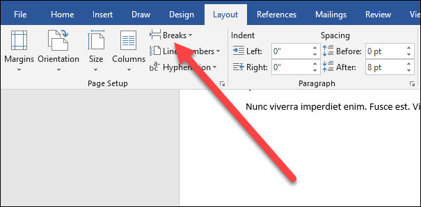 how to delete header on one page