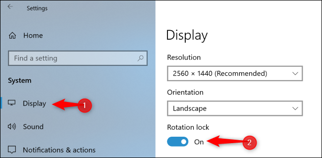 rotation lock surface pro 3 greyed out