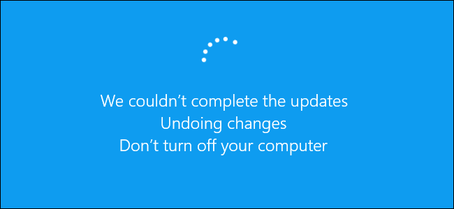 windows could not complete the installation windows 10 update