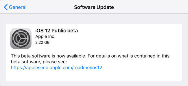 how to update ipad to ios 12
