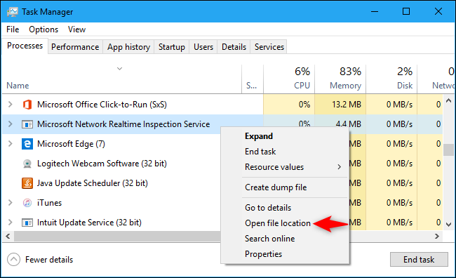 """What is """"Microsoft Network Realtime Inspection Service"""