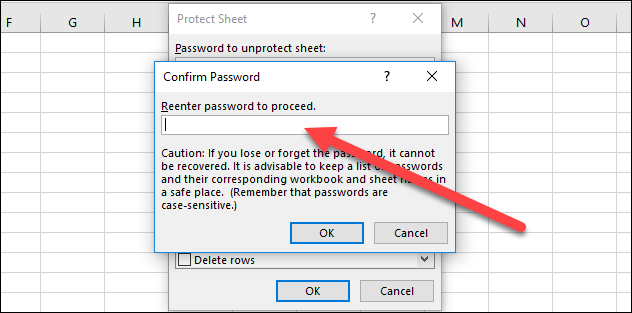 confirm your password