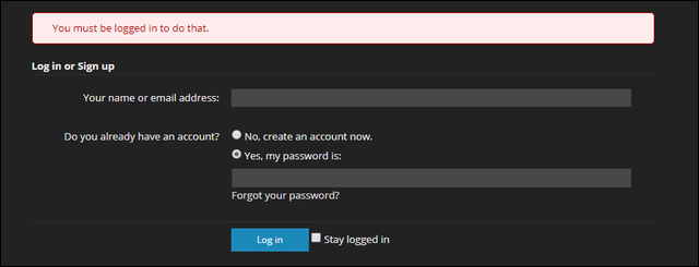 Sign in to a website that's password-protected