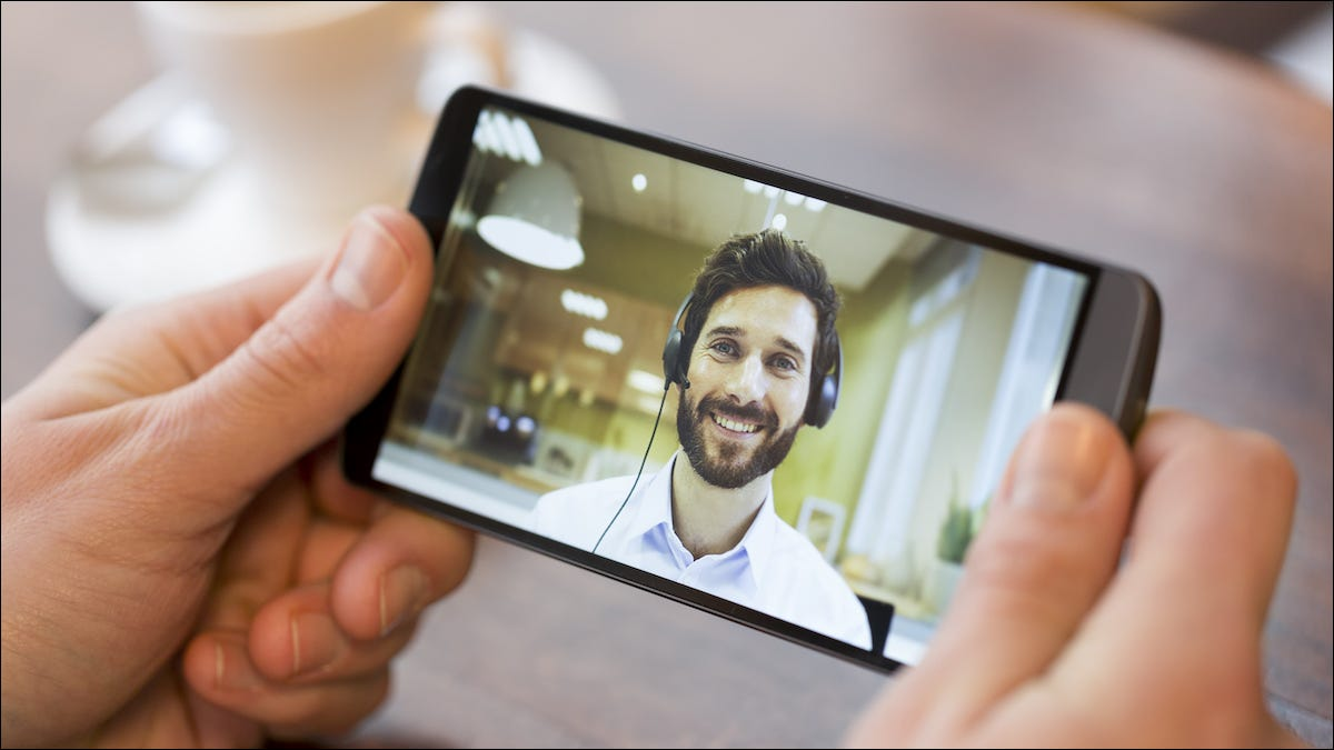 Person video calling on an Android phone