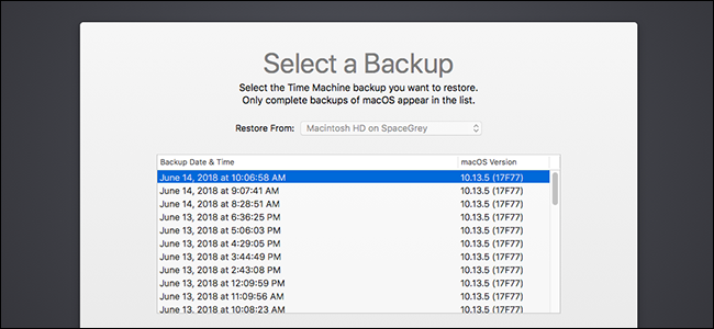 mac os x backup restore email
