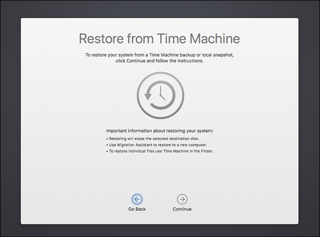 system restore mac without time machine