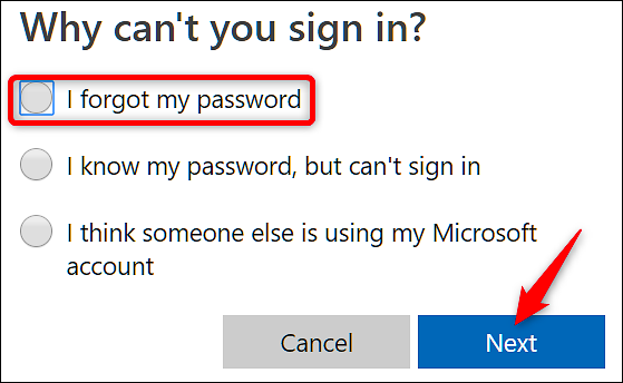 forgot outlook password but logged in