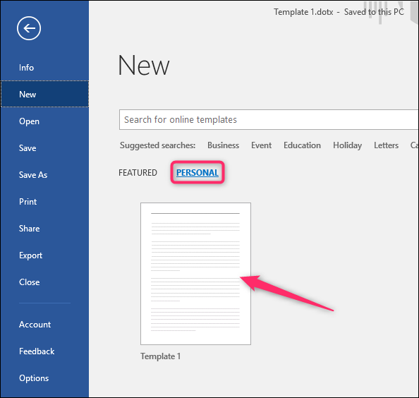 How To Create A Template In Microsoft Word