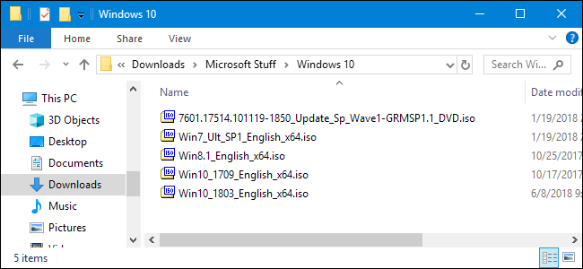 iso file in windows 10