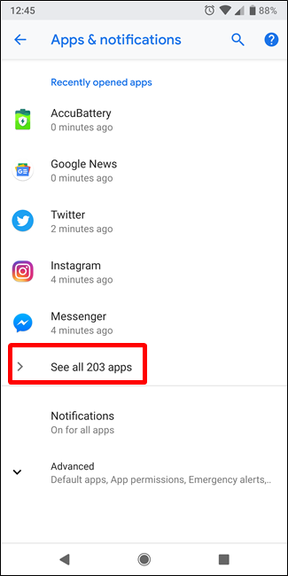how to clear data on apps